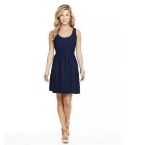 Vineyard Vines Women's Size 8 Linen Navy Dress